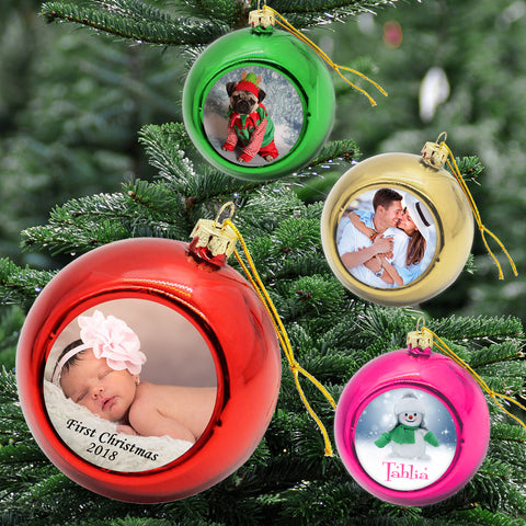 Personalised Xmas Bauble (Single)