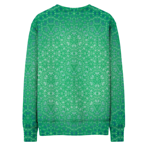 GREEN COSMIC STARGRID SWEATSHIRT