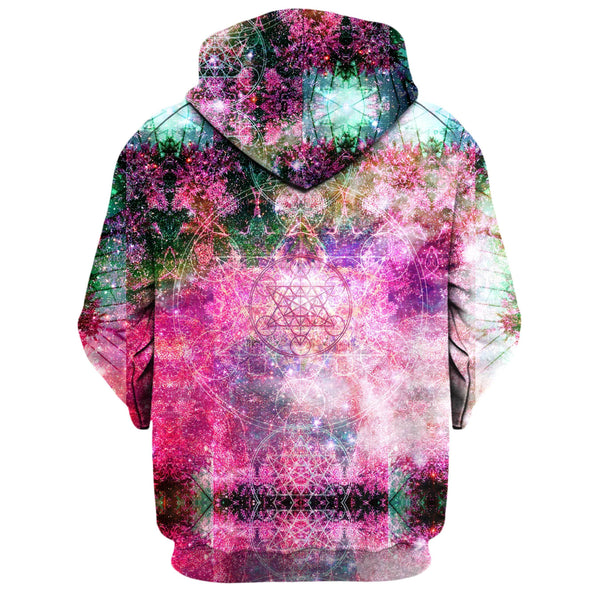 PINEAL METATRON GALAXY ZIP UP HOODIE