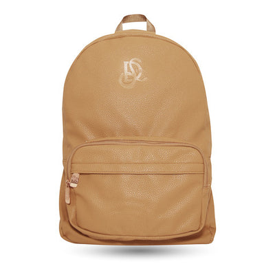 Leather Backpack - Cognac/Rose Gold Hardware - LD West