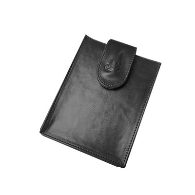 Leather Passport Wallet - Black - LD West