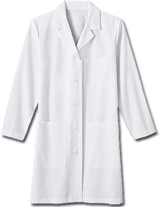 "White Swan Ladies 37"" Labcoat"