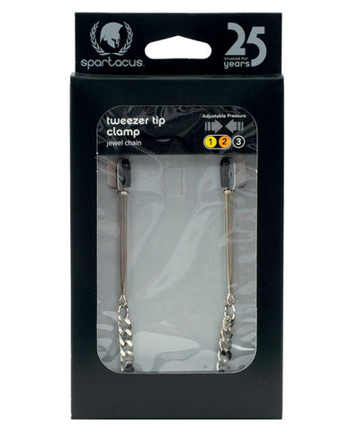 Adjustable Tweezer Nipple Clamps W-jewel Chain