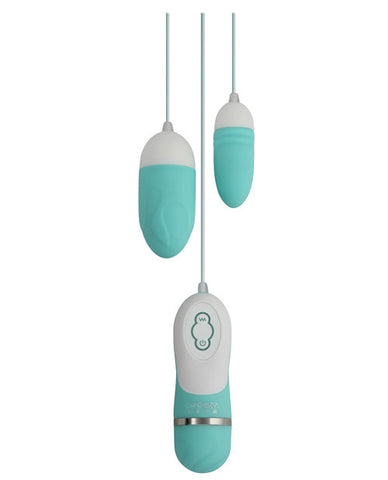 Gigaluv Dual Vibra Bullets - 10 Functions Tiffany Blue