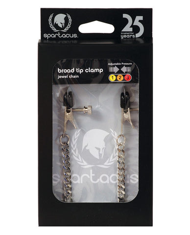 Adjustable Broad Tip Clamps - Jewel Chain