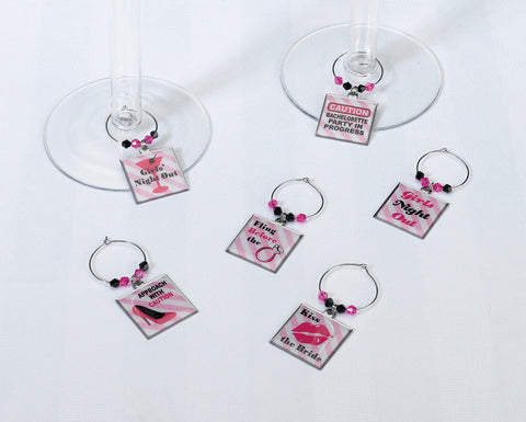 Bachelorette Party Glass Charms