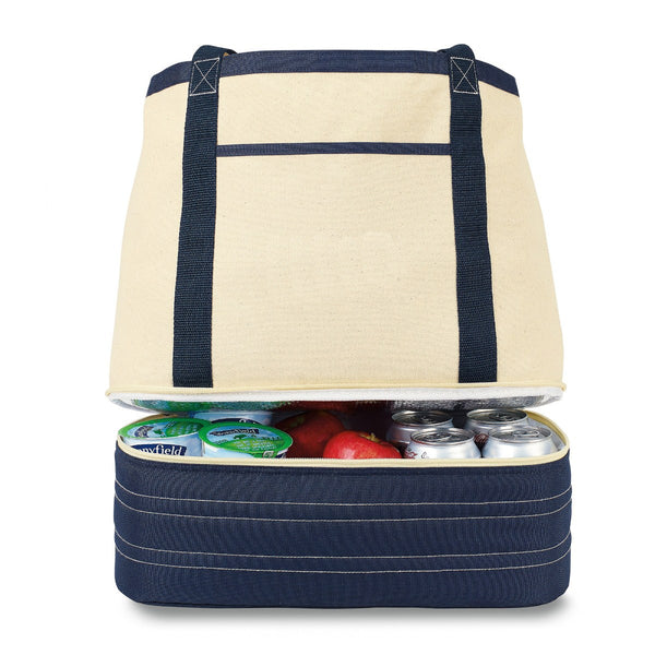 Coastal Cotton Insulated Tote
