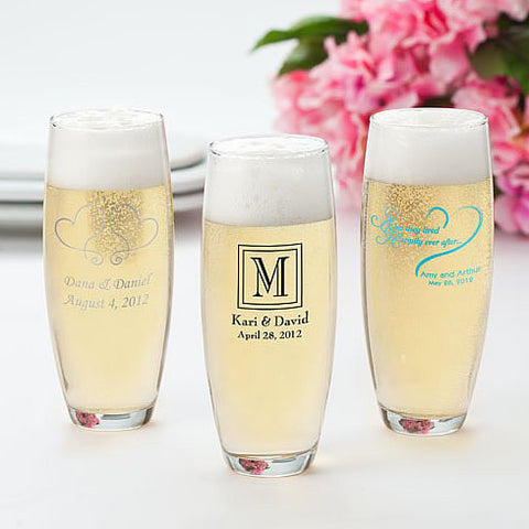 wedding toasting flute favors