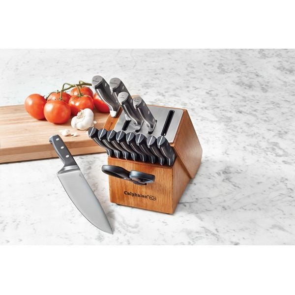 Calphalon Classic 15 Pc Cutlery Set. Self-Sharpening Cutlery