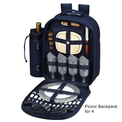 Insulated Picnic Backpack for 4