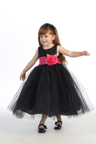 Ballerina Flower Girl Dress - Black - Infant/Toddler  BL228