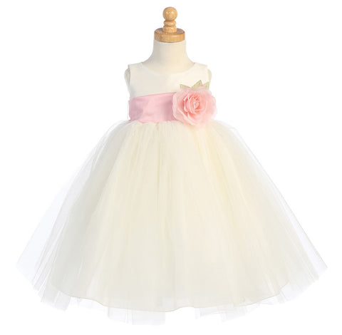 Ballerina Flower Girl Dress - Ivory - Girls Sizes  BL228