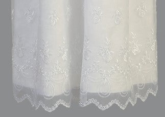 Embroidered Organza Long Christening Gown - LT-2562