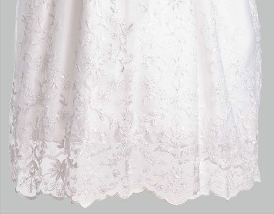 Sofia Embroidered Tulle Christening Gown with Beadwork