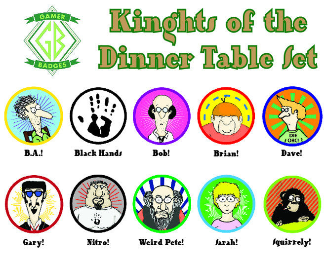 Knights of the Dinner Table Set