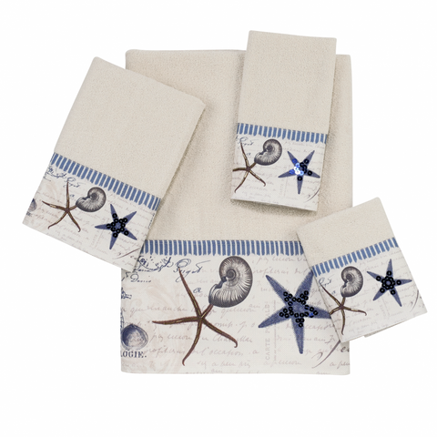 Antigua Ivory Towel Collection - By the Sea Beach Decor