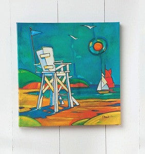 Lifeguard Stand Canvas - By the Sea Beach Decor