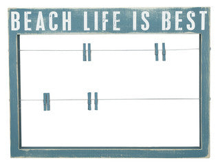 Beach Life is Best Wood Sign - By the Sea Beach Decor