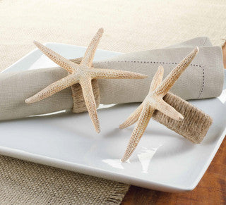 Starfish Beach Napkin Ring Set