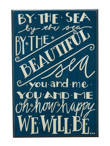 By the Sea Beach Decor Sign - By the Sea Beach Decor