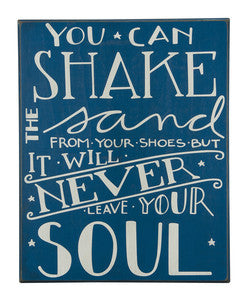 Shake the Sand Coastal Decor Sign