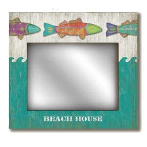 Funky Fish Mirror - By the Sea Beach Decor