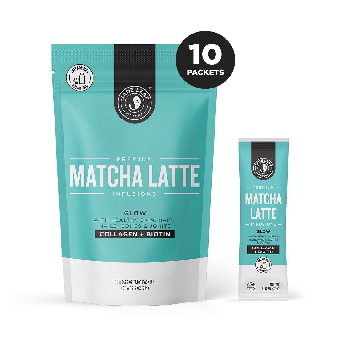 Matcha Latte Infusions - GLOW - 10 PACKETS - Hero