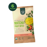Matcha Fruit Bites - Peach Mango - 6 Pouches - Hero
