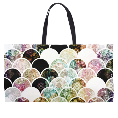Mermaid Scales Weekender Tote Bag