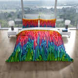 Boho Soul Bedding, Comforter or Duvet Cover, Colorful Melting Wax Design