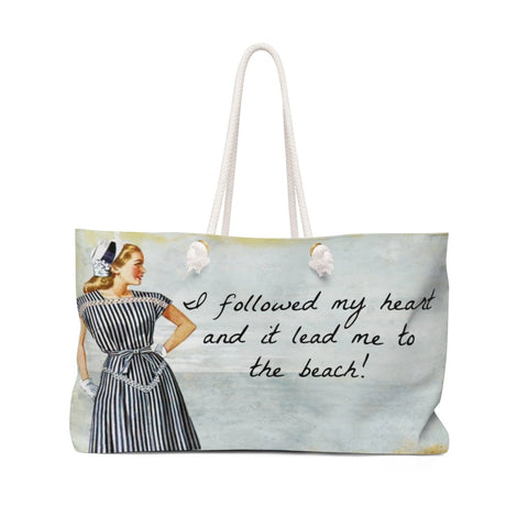 Retro Girl Followed My Heart Weekender Tote Bag