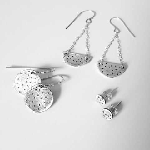 Silver Earrings at alishamerrickart