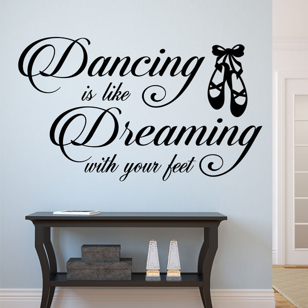 Dancing Is Dreaming Wall Quote
