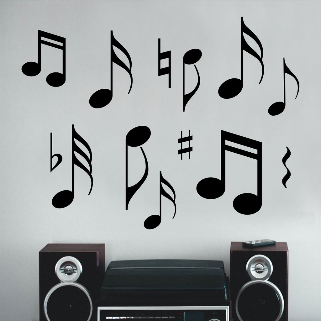 Musical Notes Assorted Sizes | Music Note Decals | Vinyl Wall Art