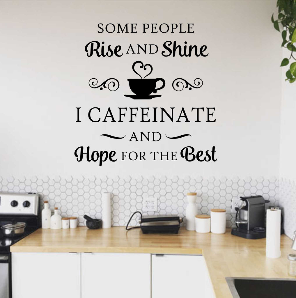 rise and shine coffee wall decor