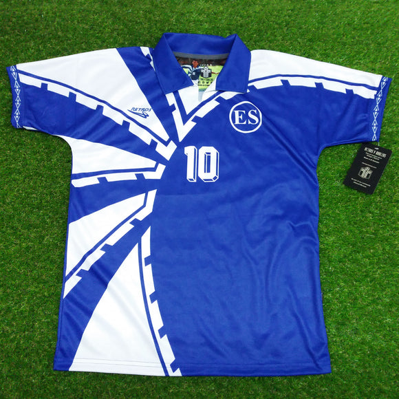 El Salvador, Men's Retro Soccer Jersey, 1997, #10
