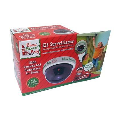 Naughty Elf Prank Surveillance Camera