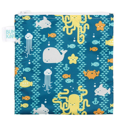 Bumkins Large Snack Bag - Sea Friends