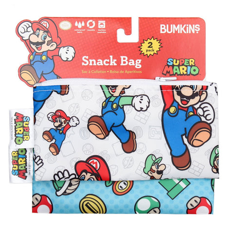 Bumkins Small Snack Bag 2pk - Super Mario
