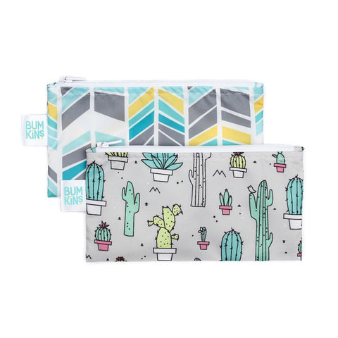 Bumkins Small Snack Bag 2pk - Quill | Cacti