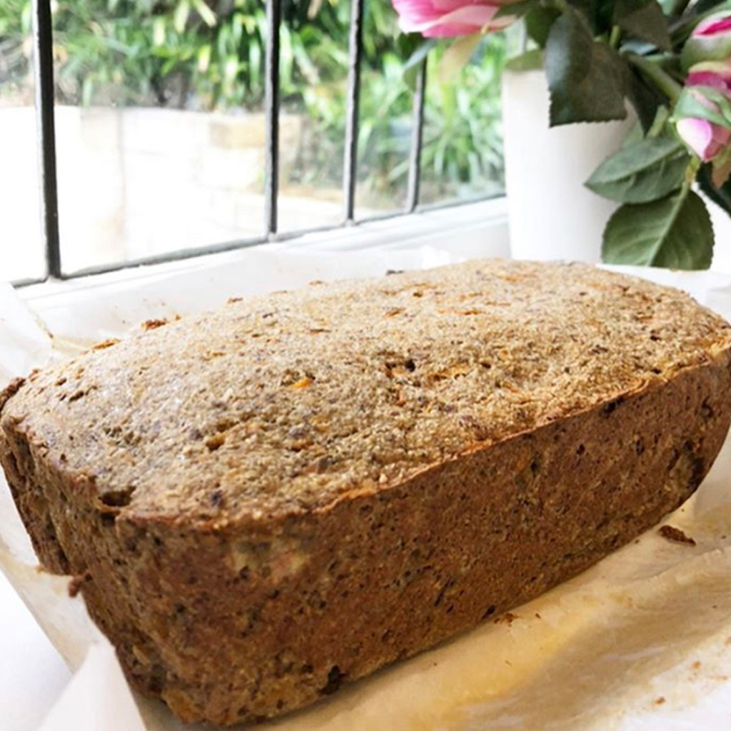 grain free carrot and banana bread
