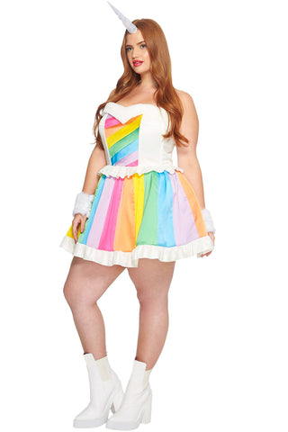 Plus Size Rainbow Rider Unicorn Costume