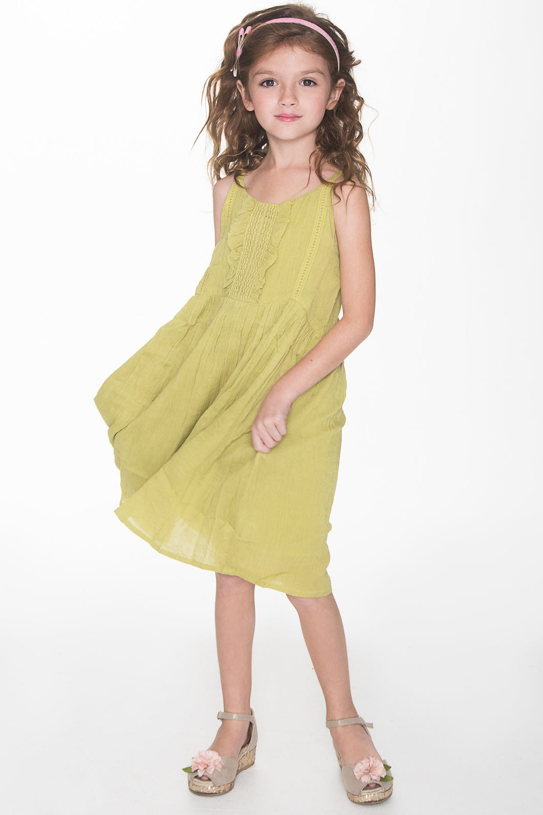 Green Swing Dress - Kids Clothing, Dress - Girls Dress, Yo Baby Online - Yo Baby
