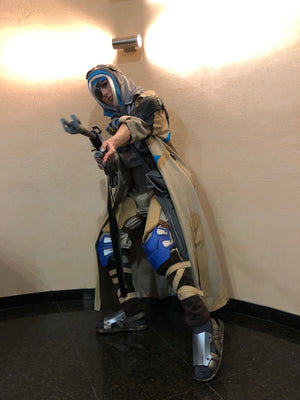Ana from Overwatch full cosplay with armour