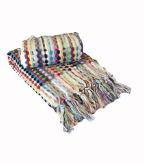 Rainbow Turkish Pom Pom Hand Towel