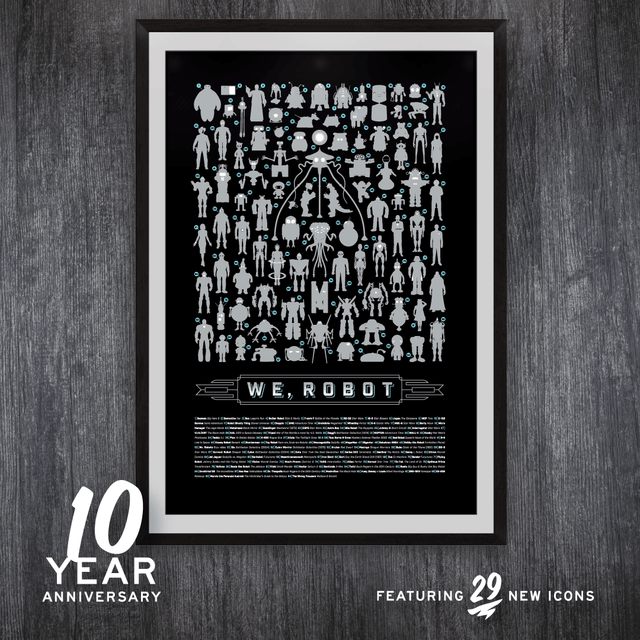 WeRobot 10 Year Anniversary Screen Print
