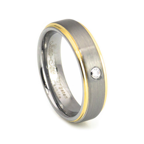 Step edge diamond tungsten ring