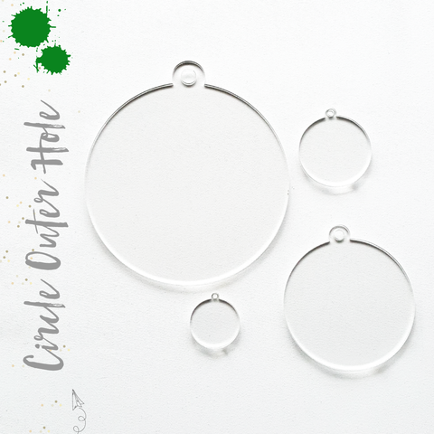 Acrylic Circles Clear With Outer Hole (Package.Price)