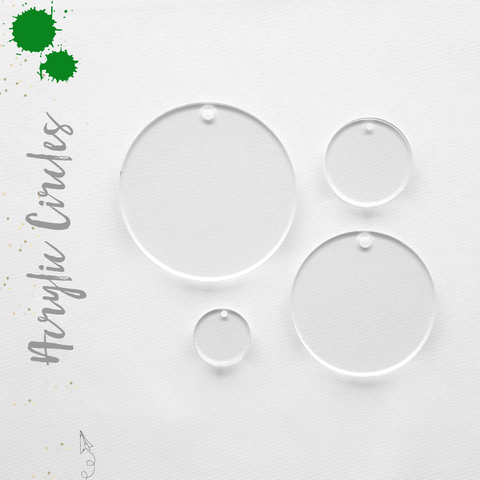 Acrylic Circles Clear With Hole (Package.Price)