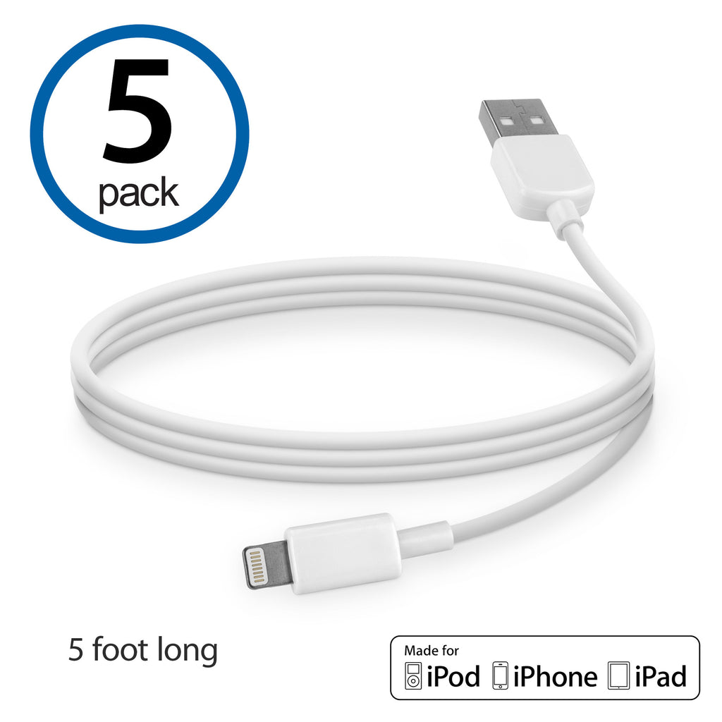 USB Lightning Cable (5-Pack) - Apple iPhone 6 Cable
